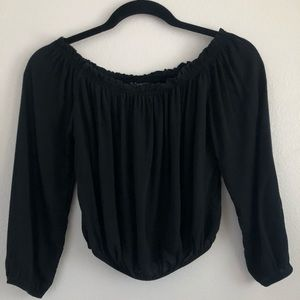 Brandy Melville off shoulder long sleeve black